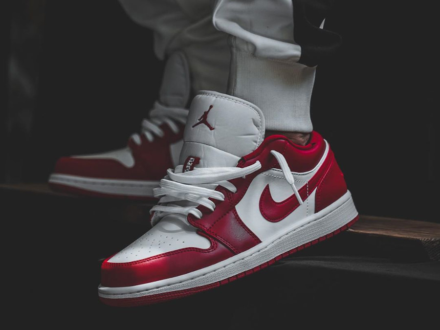 Air Jordan 1 Low White Gym Red (1)