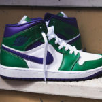 Air Jordan 1 Mid 'Aloe Verde Court Purple' (Incredible Hulk)