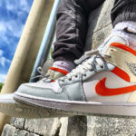 Air Jordan 1 Mid SE Pure Platinum Starfish Orange