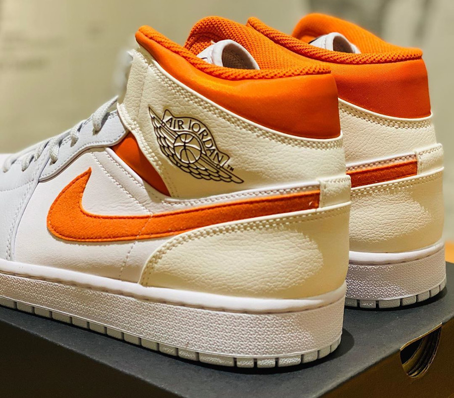 Air Jordan 1 Mid SE Pure Platinum Starfish Orange (4)