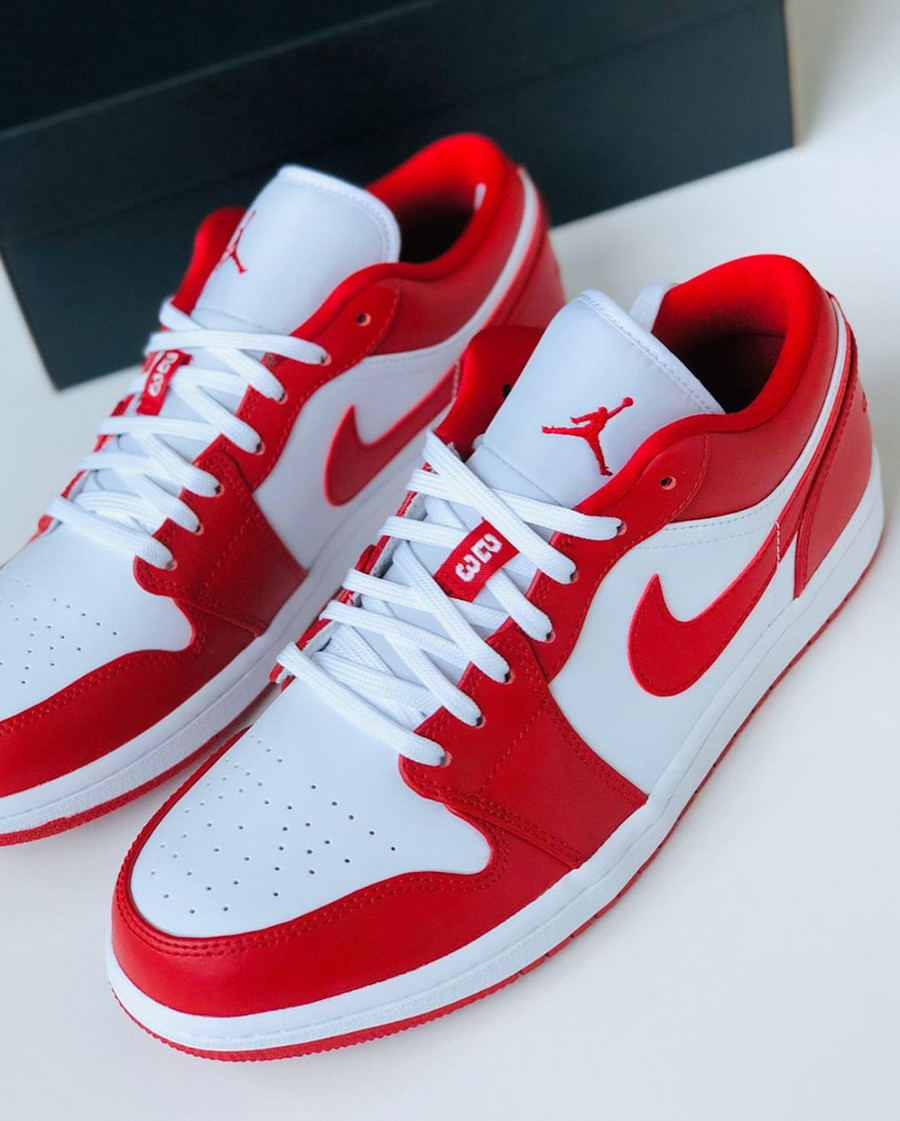 Air Jordan 1 low blanche et rouge (1)