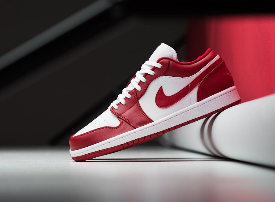 Air Jordan 1 low blanche et rouge (3)