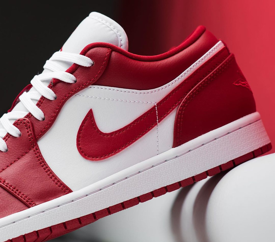 Air Jordan 1 low blanche et rouge (4)