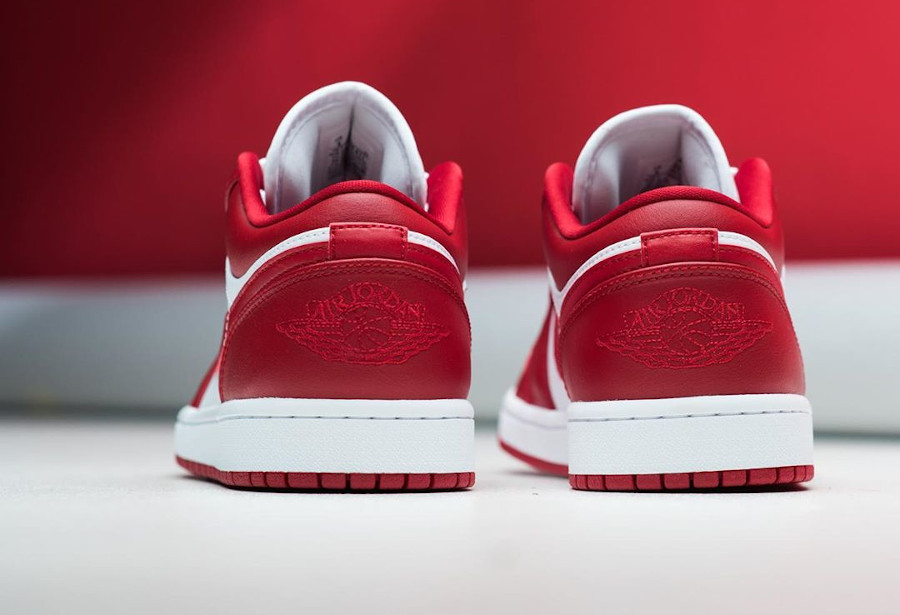 Air Jordan 1 low blanche et rouge (5)