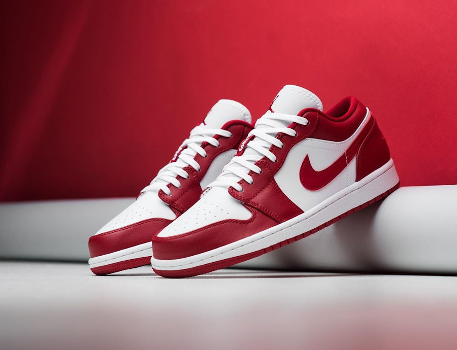 Air Jordan 1 low blanche et rouge (6)