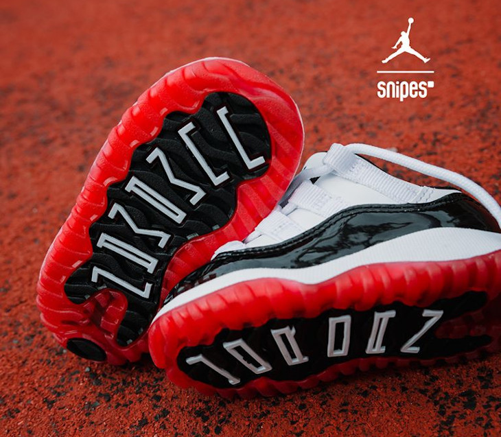 Air Jordan 11 Retro bébé TD Low Gym Red 505836-160