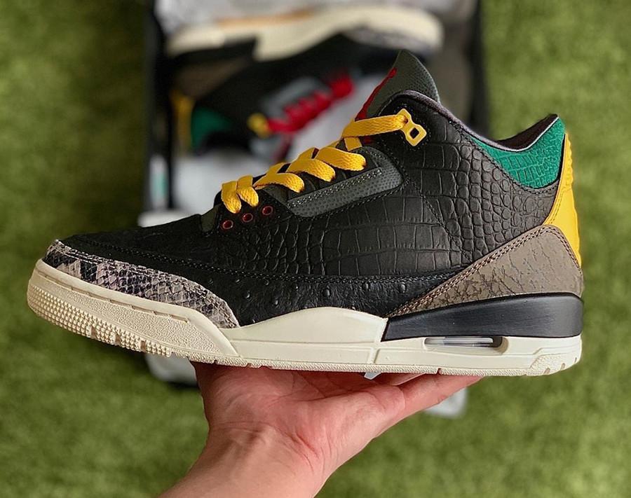Air Jordan III Retro Se Black Cement Croc Snake Ostrich (2)