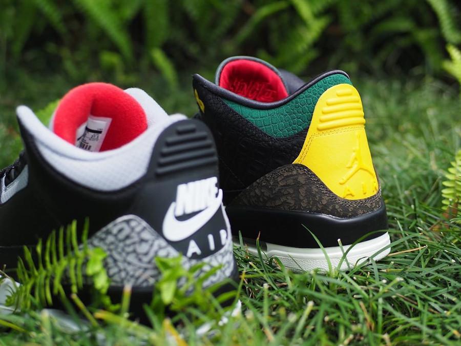 Air Jordan III Retro Se Black Cement Croc Snake Ostrich (7)