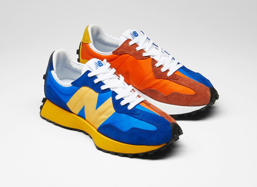 New Balance 327 Blue Orange Yellow (1)