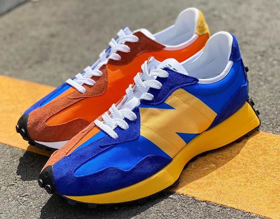 New Balance 327 Blue Orange Yellow (2)