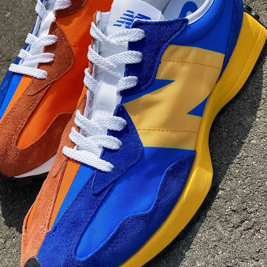 New Balance 327 Blue Orange Yellow (4)