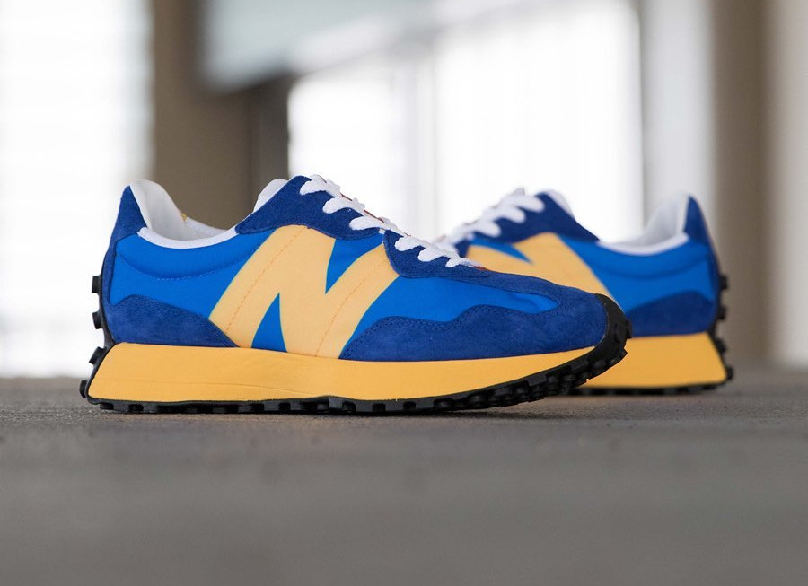 New Balance 327 Blue Orange Yellow (7)