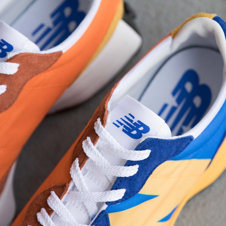New Balance 327 Blue Orange Yellow (8)