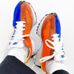 New Balance 327 Blue Orange Yellow