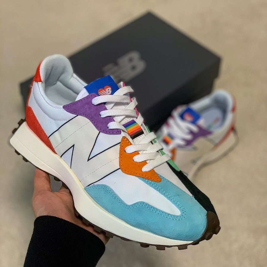 New Balance 327 MS327PRD Pride Pack Rainbow Multicolor