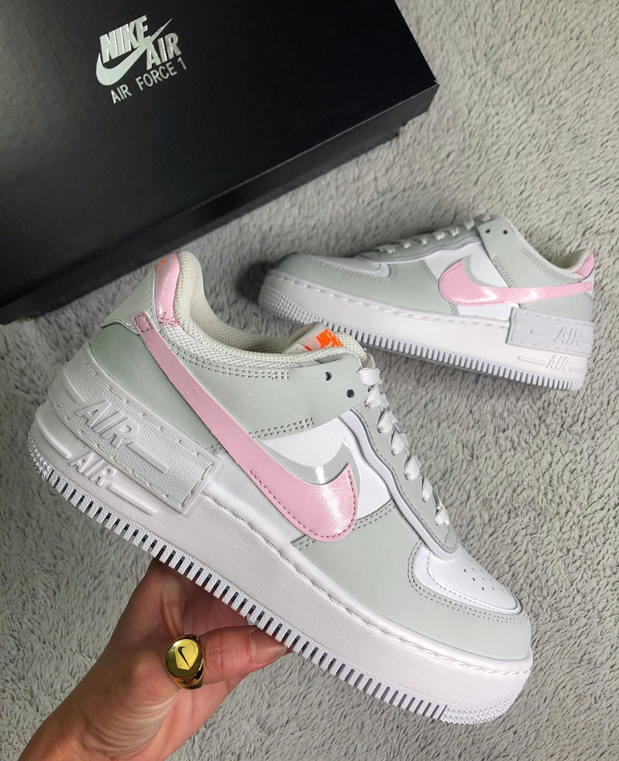 Nike AF1 'Shadow White Total Orange Photon Dust Pink Foam' (1)