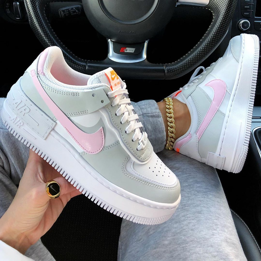Nike AF1 'Shadow White Total Orange Photon Dust Pink Foam' (2)