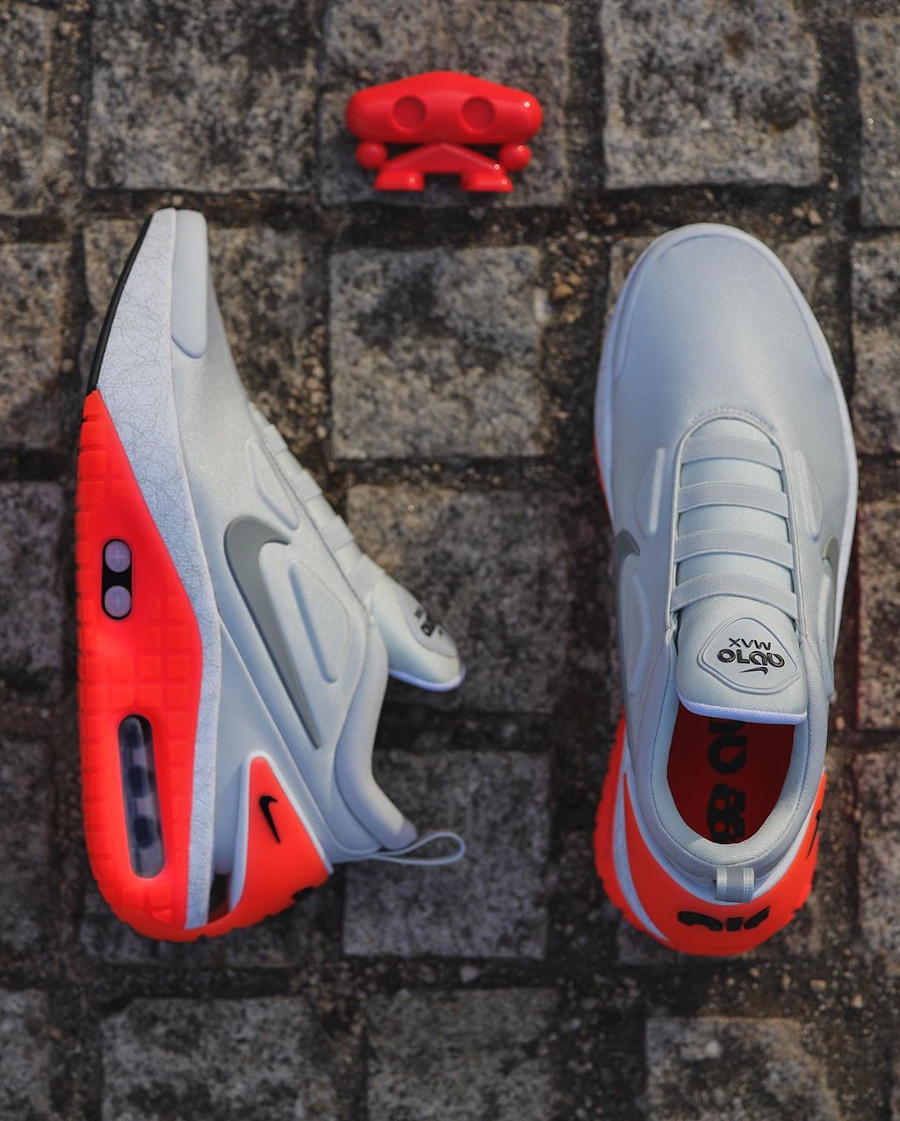 Nike Adapt Automax Retour vers le futur grise et rouge (2)