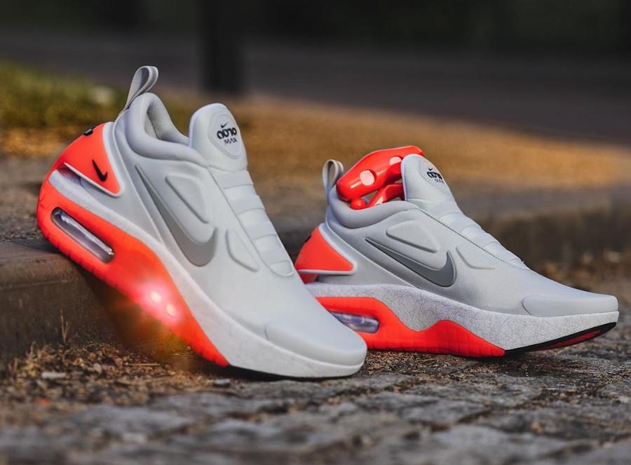 Nike Adapt Automax Retour vers le futur grise et rouge (3)