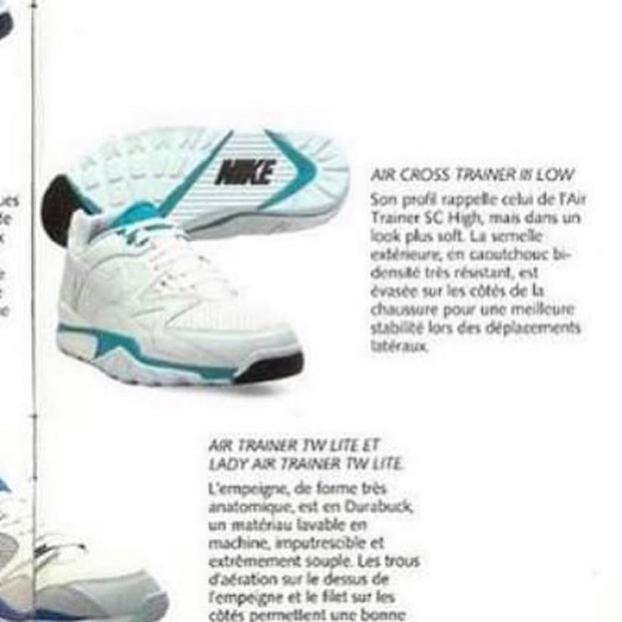 Nike Air Cross Trainer III catalogue Nike 1990 1991