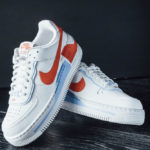 Nike Wmns AF1 Shadow SE Summit White Team Orange Psychic Blue