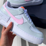 Nike AF1 'Shadow White Total Orange Photon Dust Pink Foam'