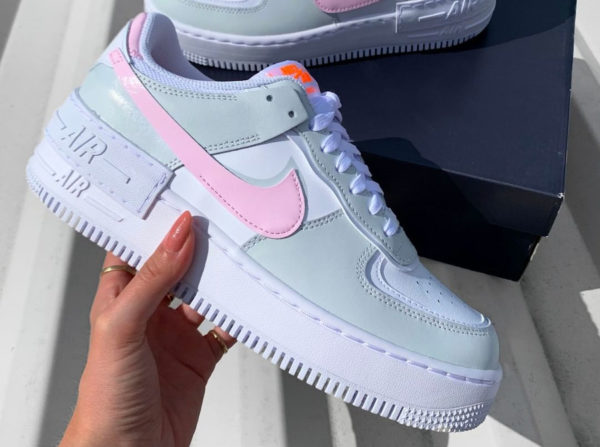 Nike Air Force 1 AF1 Shadow White Pink Grey CZ0370-100 (couv)