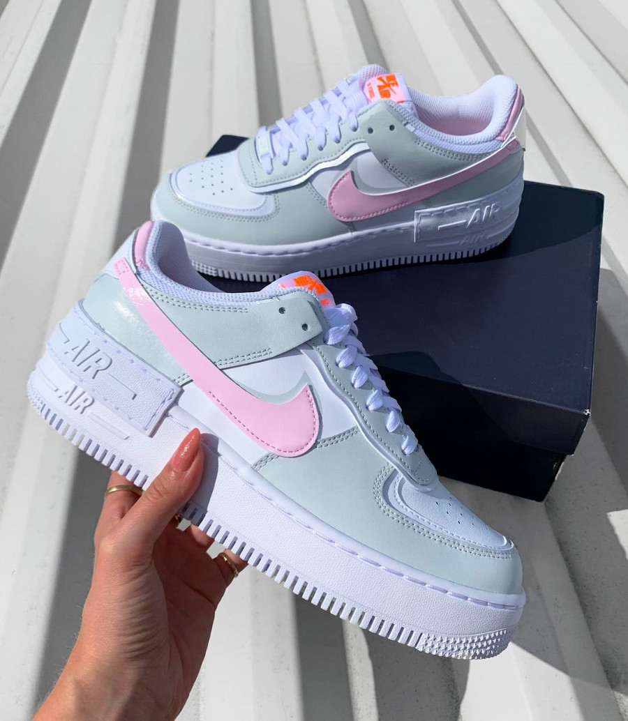 Nike Air Force 1 AF1 Shadow White Pink Grey CZ0370-100