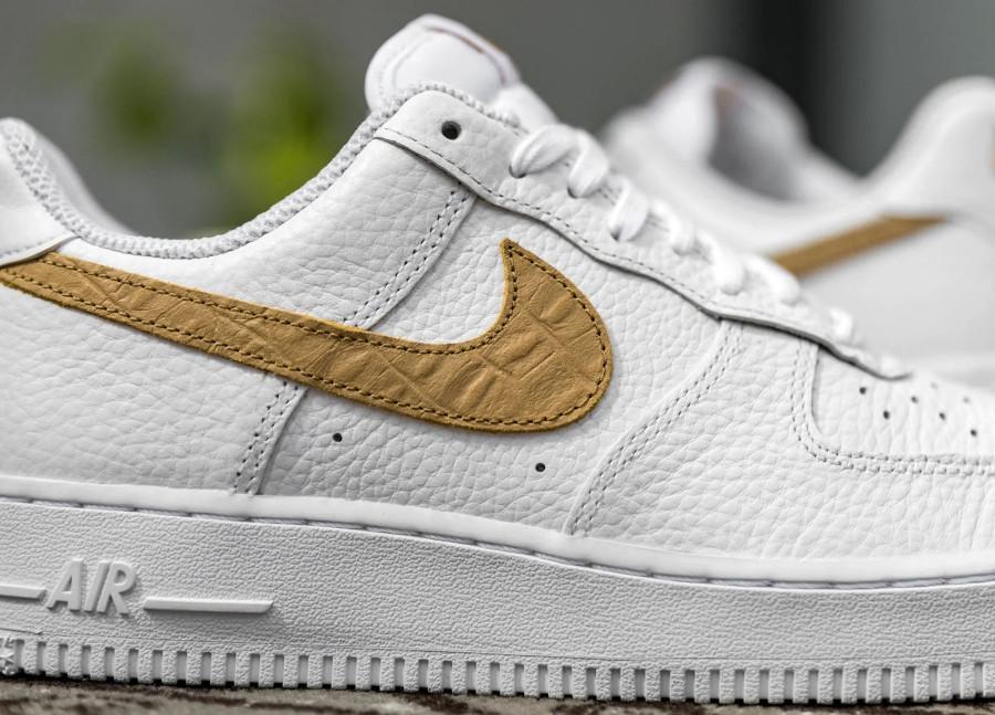 Nike Air Force 1 LV8 'Hairy Swoosh' White Club Gold (1)