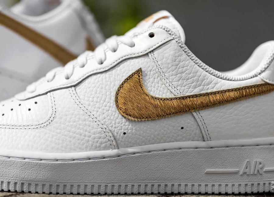 Nike Air Force 1 LV8 'Hairy Swoosh' White Club Gold (2)