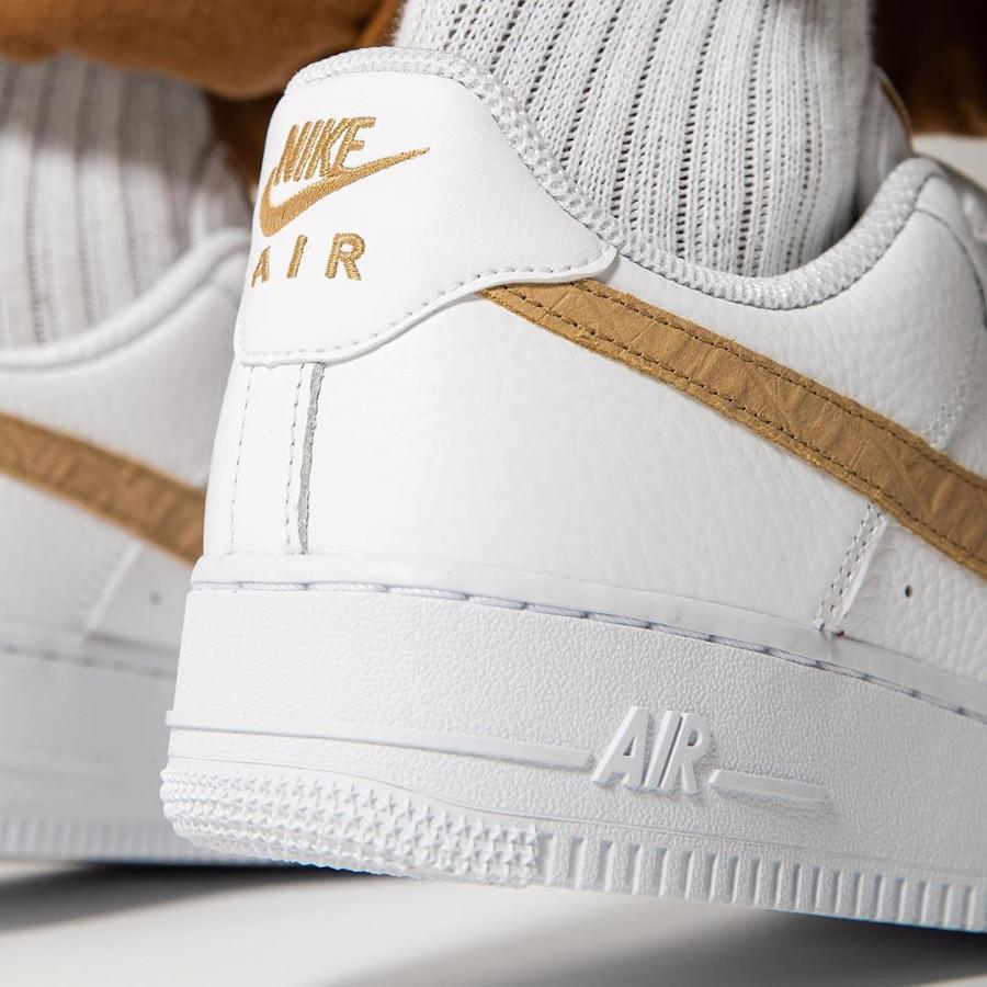 Nike Air Force 1 LV8 'Hairy Swoosh' White Club Gold (3)