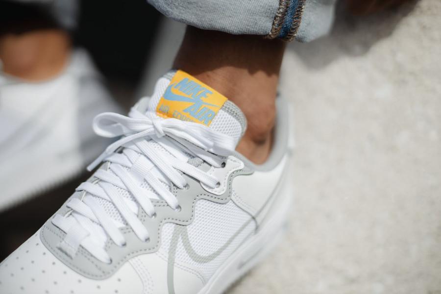 Nike Air Force 1 React DMSX blanche grise et jaune doré (1)