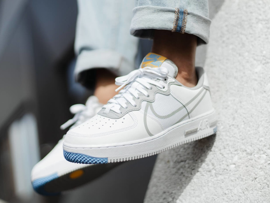Nike Air Force 1 React Dimsix Light Smoke Grey CT1020-100