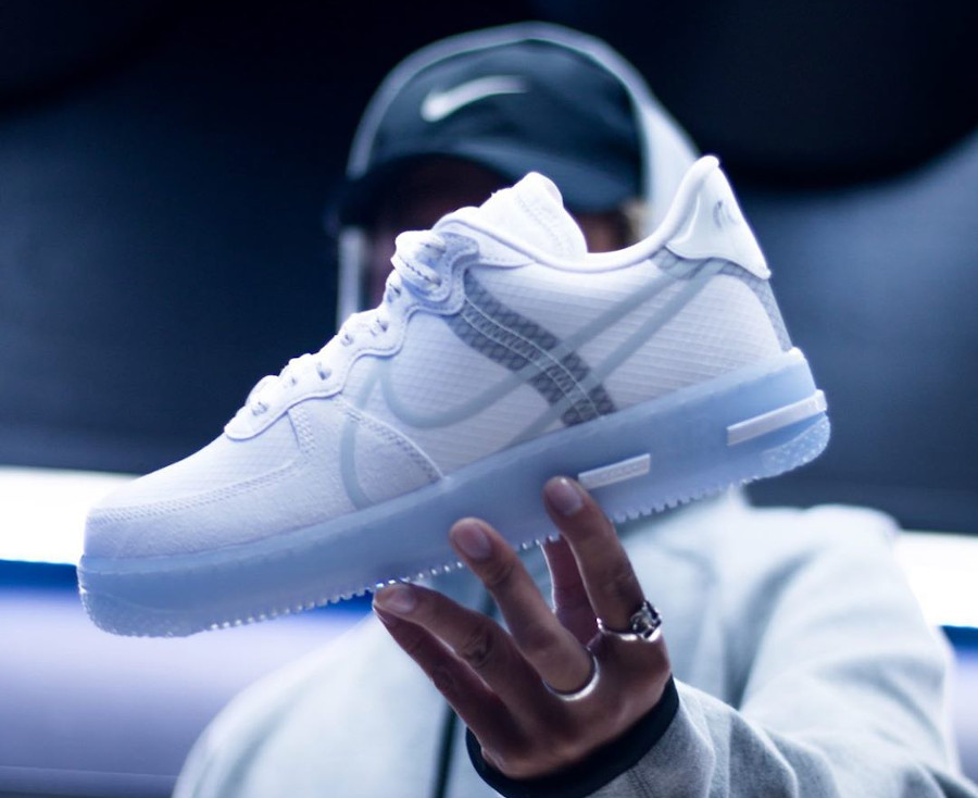 Nike Air Force 1 React QS Dimsix White Ice Cq8879-100