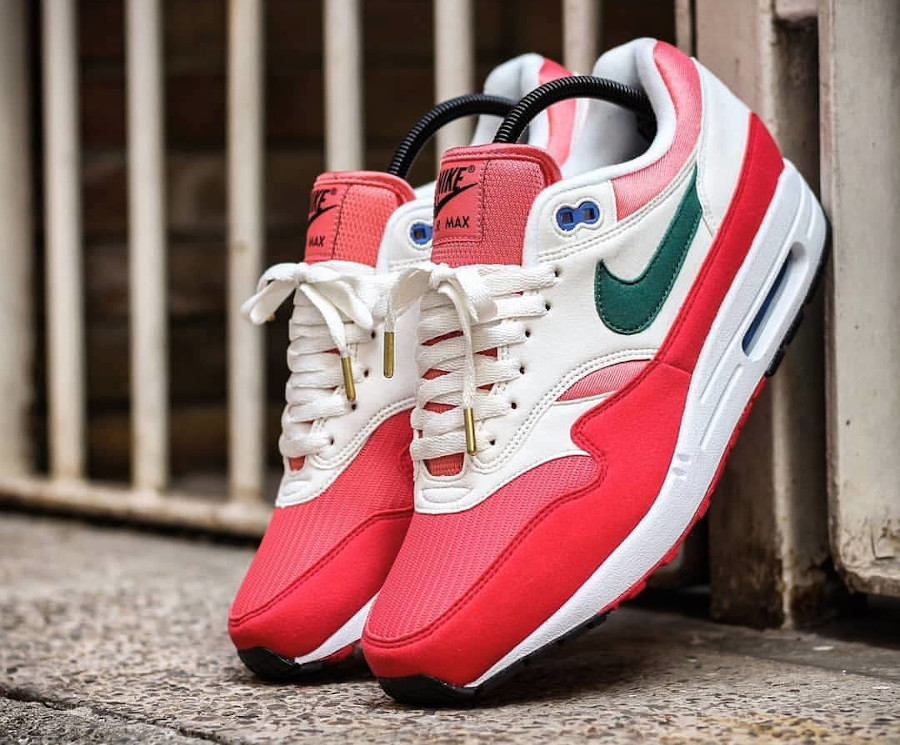 Nike Air Max 1 By You 2020 University Red Magic Flamingo Rain Forest (1)