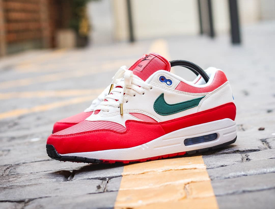 Nike Air Max 1 By You 2020 University Red Magic Flamingo Rain Forest (2)