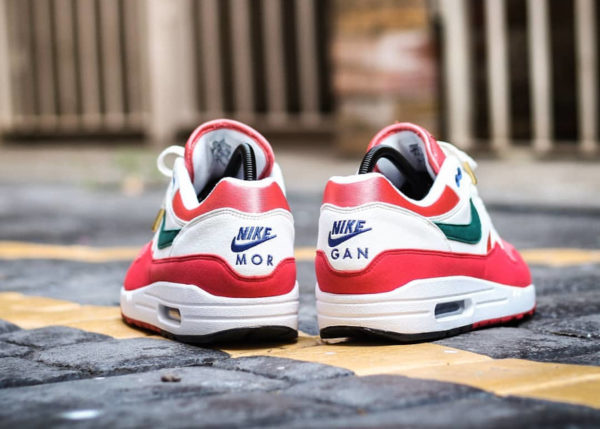 Nike Air Max 1 By You 2020 University Red Magic Flamingo Rain Forest (3)
