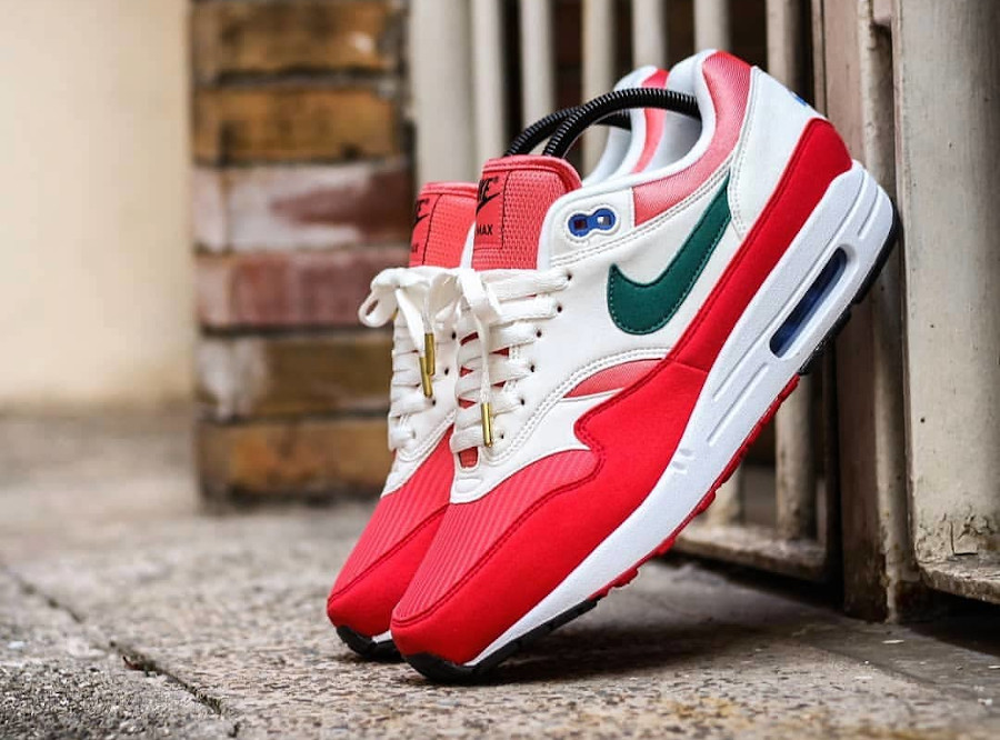 Nike Air Max 1 By You 2020 University Red Magic Flamingo Rain Forest (4)