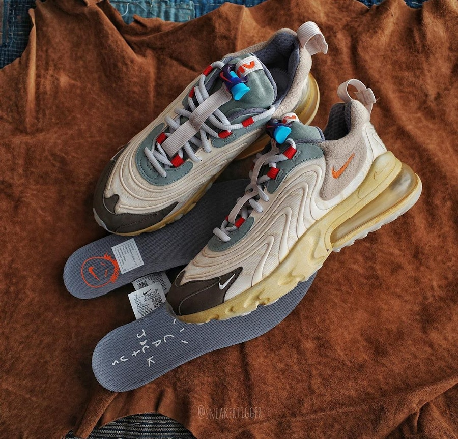 Nike Air Max 270 React TS beige marron et orange (5)