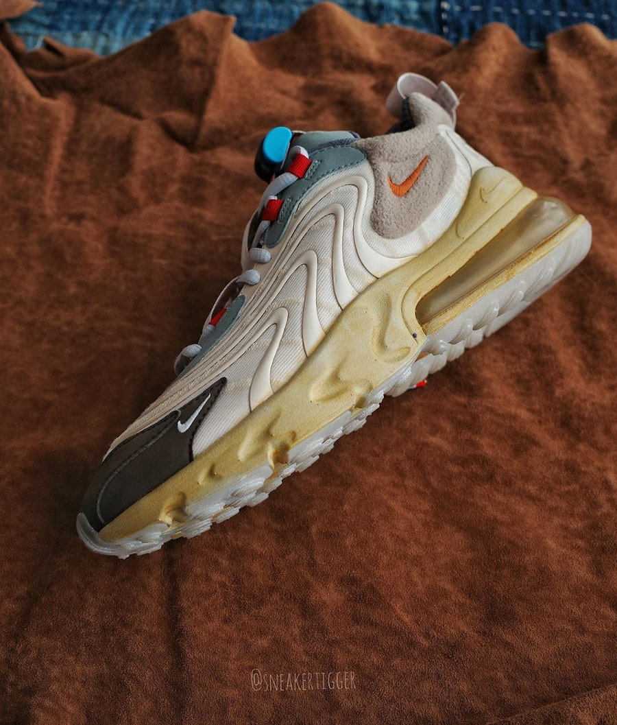 Nike Air Max 270 React TS beige marron et orange (6)