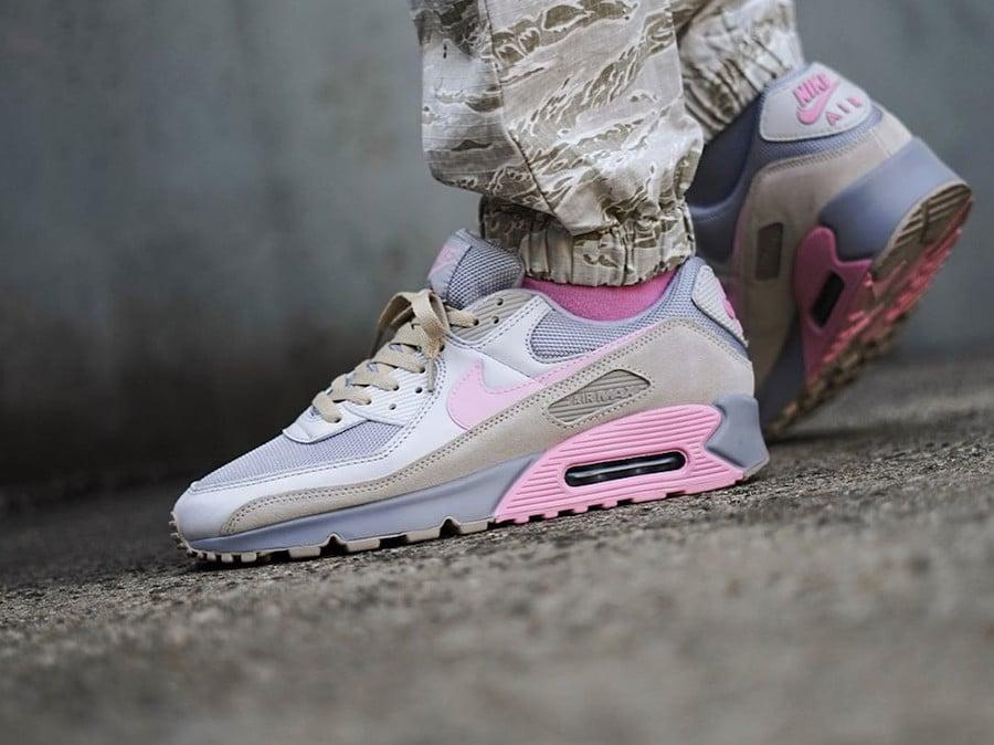 Nike Air Max 90 Recraft Flamingo Grey Pink CW7483-001