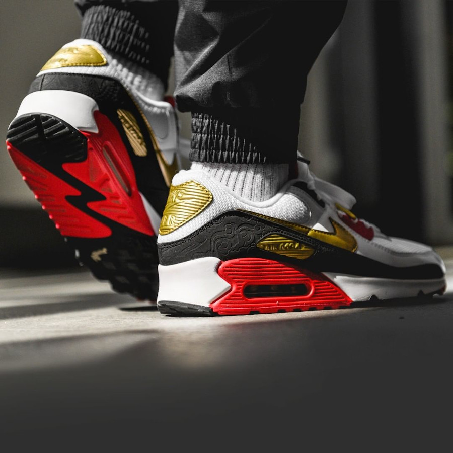 Nike Air Max 90 Year of the Rat 2020 on feet
