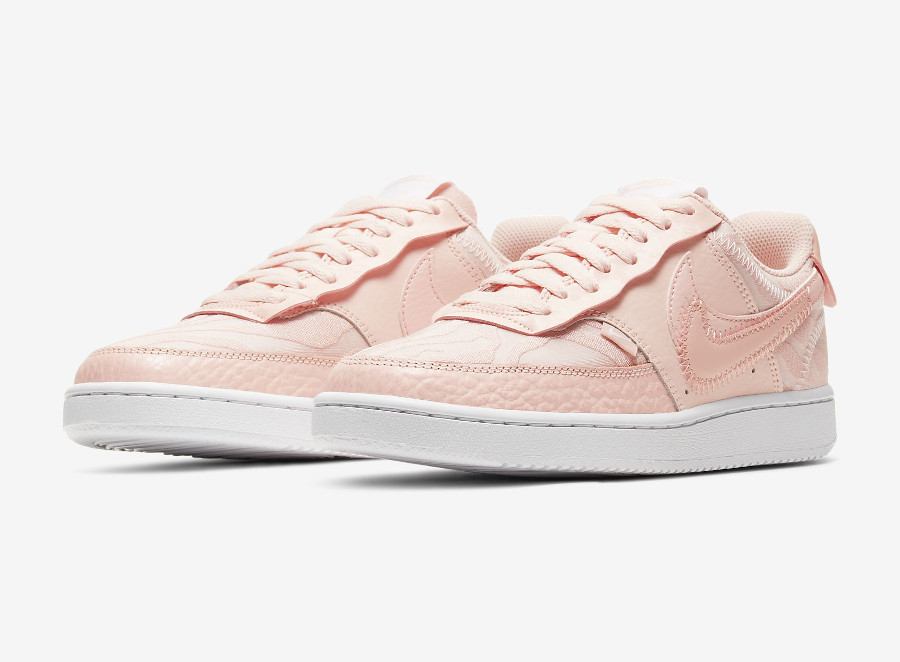 Nike Court Vision Low Premium Washed Coral pas cher