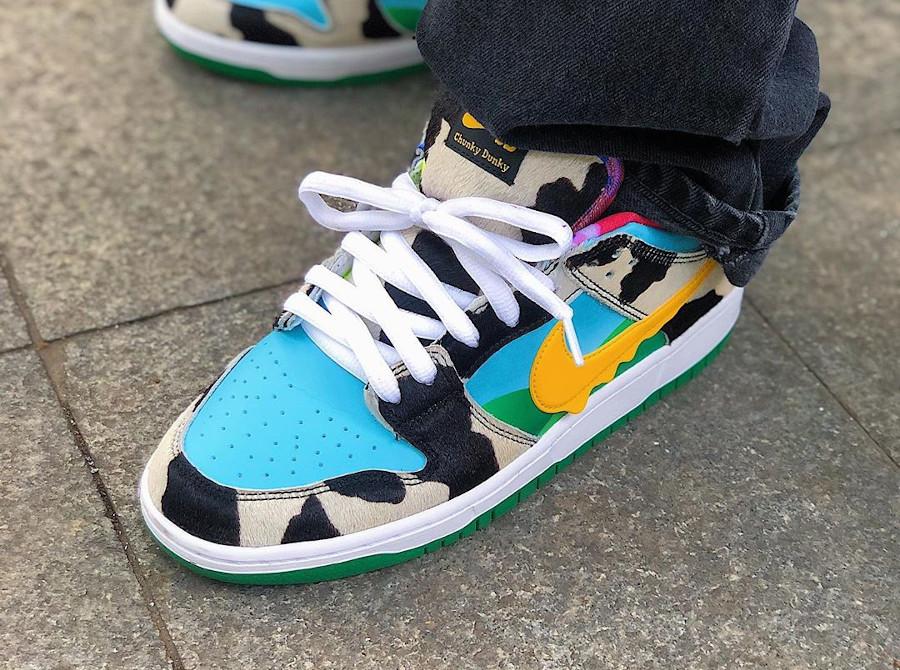 Nike Dunk Low Pro SB QS Chunky Monkey Ice Cream on feet (1)