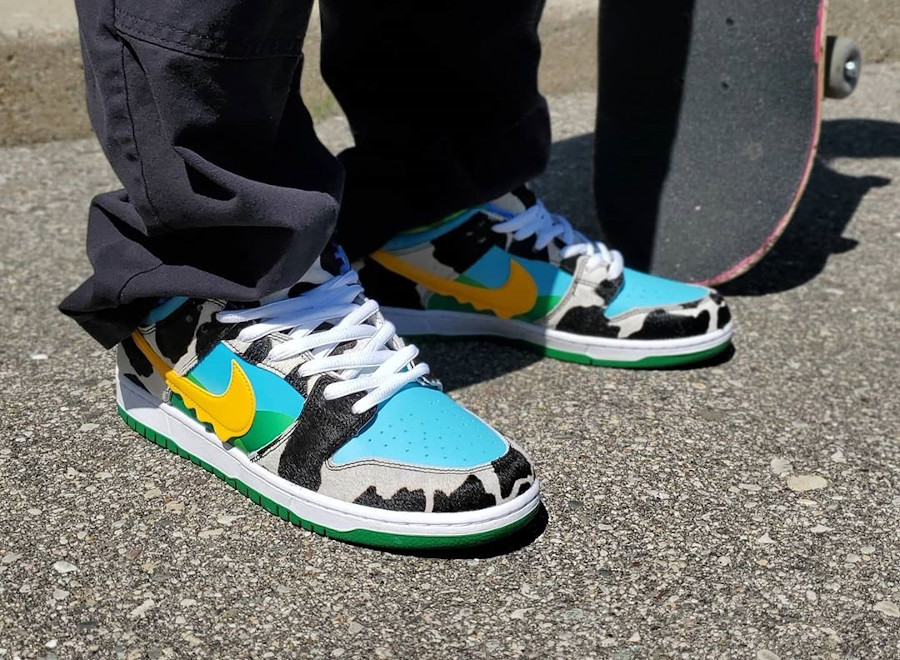 Nike Dunk Low Pro SB QS Chunky Monkey Ice Cream on feet (2)
