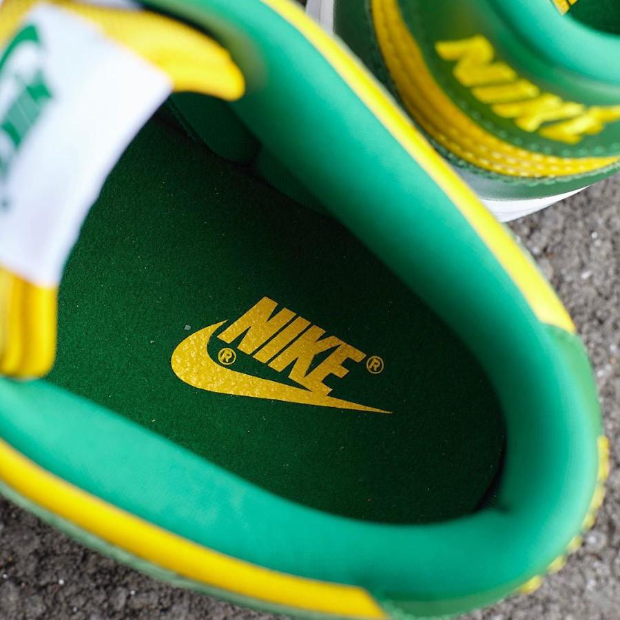 Nike Dunk Low en cuir vert et jaune (5)