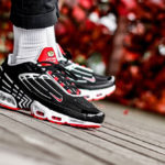 Nike Air Max Plus III Black White Track Red