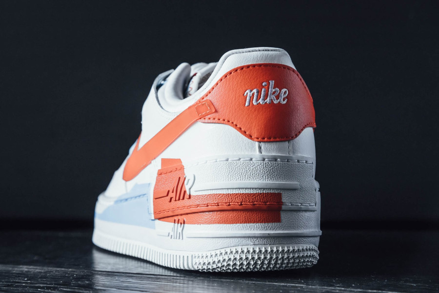 Nike Wmns AF1 Shadow SE Summit White Team Orange Psychic Blue (5)