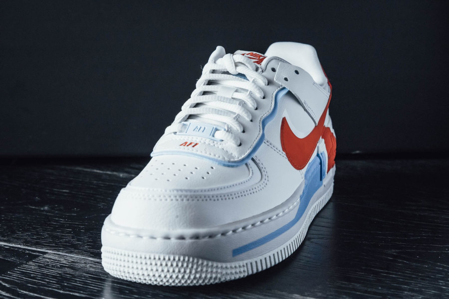 Nike Wmns AF1 Shadow SE Summit White Team Orange Psychic Blue (6)