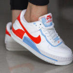 Nike Wmns AF1 Shadow SE Summit White Team Orange Psychic Blue